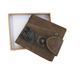 Fino 3D Genuine Leather Wallet (HL510) - Brown
