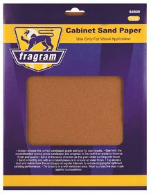Fragram - Sand Paper 150 Grit Cabinet Fine - 4 Piece