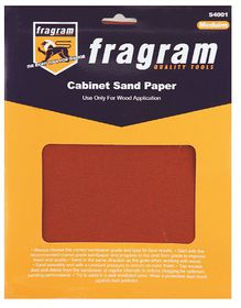 Fragram - Sand Paper 120 Grit Cabinet Medium - 4 Piece