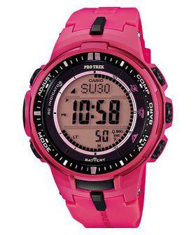 Casio Ladies Pro Trek PRW-3000-4BDR Digital Wrist Watch