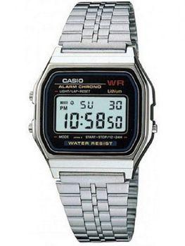 Casio Mens A159WA-1DF Retro Digital Watch