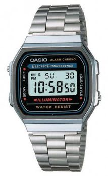 Casio Mens A168WA-1UWD Illuminator Retro Digital Watch