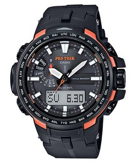Casio Mens PRW-6100Y-1DR Protrek Triple Sensor Anadigital Watch