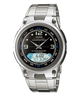 Casio Mens AW-82D-1AVDF Illuminator Fishing Gear Anadigital Watch