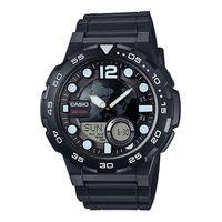 Casio Men's AEQ-100W-1A Analog-Digital Round Watch - Black