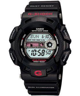 Casio Mens G-9100-1DR G-shock Gulfman Moon Tide Graph Digital Watch