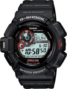 Casio Mens G-9300-1DR G-Shock  Mudman Compass Solar  Digital Watch