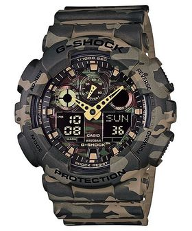 Casio Mens GA-100CM-5ADR G-Shock Camo Series Anadigital Watch