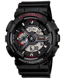 Casio Mens GA-110-1ADR G-Shock Anadigital Watch