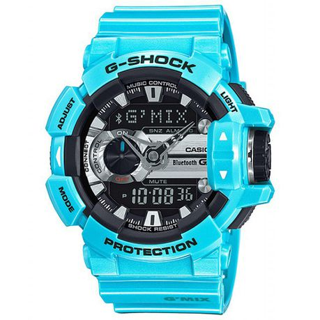 on sale 6a655 364cb Casio Mens GBA-400-3BDR G-Shock Bluetooth Smart G-Mix Anadigital Watch