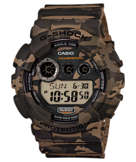 Casio Mens GD-120CM-5DR G-Shock Camo Digital Watch