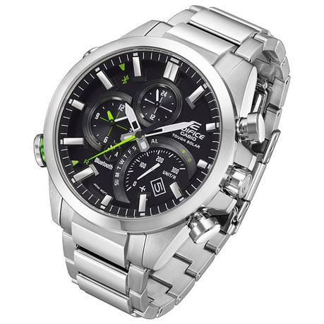 Casio Mens Eqb 500d 1adr Edifice Bluetooth Analogue Watch Buy