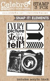 Celebr8 Snap It! Stamp - Elements