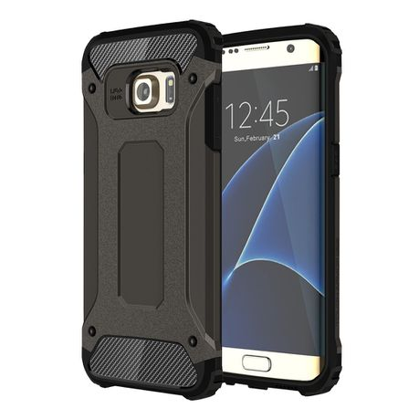 the best attitude fec20 4f811 Tuff-Luv Tough Armour Case for the Samsung Galaxy S7 Edge - Black ...