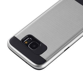 Tuff-Luv Combination Case for the Samsung Galaxy S7 Edge - Silver
