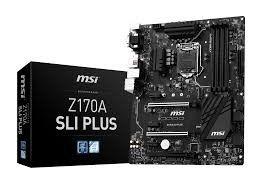 MSI Intel Z170A SLI Plus Mainboard - Socket LGA1151