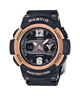 Casio Ladies BGA-210-1BDR Baby-G G-Shock Anadigital Watch