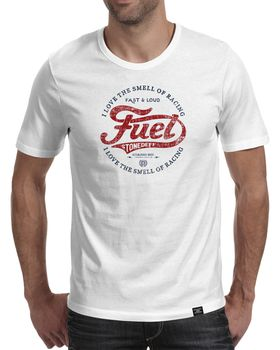 StoneDeff - I Love The Smell Of Racing Fuel Men's Short Sleeve T-Shirt - White