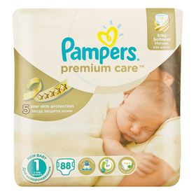 Pampers - Premium Care 88 Nappies - Size 1 Value Pack