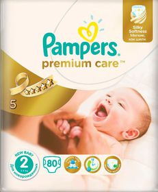 Pampers - Premium Care 80 Nappies - Size 2 Value Pack
