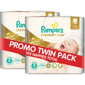 Pampers - Premium Care 2 x 96 Nappies - Size 2 Twin Jumbo Pack