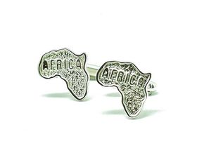 Sterling silver cufflinks - Africa map