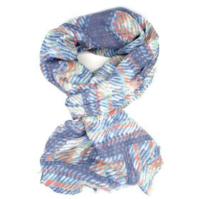 Lily&Rose Blue Weave Print Scarf
