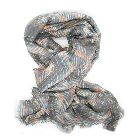 Lily&Rose Grey Weave Print Scarf