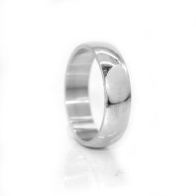 Xcalibur Stainless Steel Gents Half Round Ring - TXR007