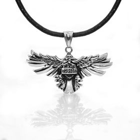 Xcalibur Stainless Steel Eagle Pendant on 55cm Leather Thong - TXN009