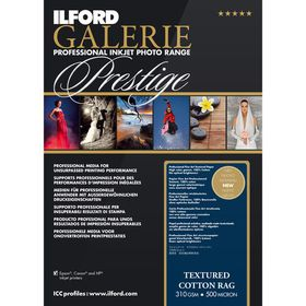 Ilford Prestige Textured Cotton Rag 19 A3+ Photo Paper