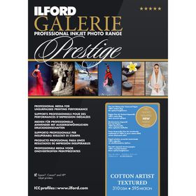 Ilford Prestige Cotton Artist Textured 23 A3+ Photo Paper
