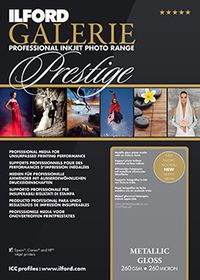 Ilford Prestige Metallic Gloss 10 A3+ Photo Paper
