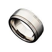 Martin Nagel Jewellers Gents Titanium Ring with Grooves C29743