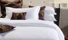 Chic Linen - Luxurious Egyptian Cotton Classic White Duvet Cover Set - Dawn