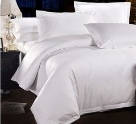Chic Linen - Luxurious Egyptian Cotton Plain White Duvet Cover Set