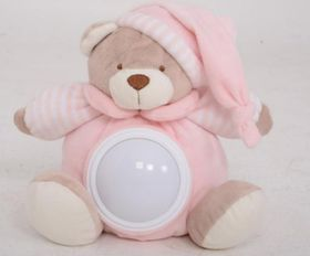 Snuggletime - Classical Plush Natural Glow Teddy - Pink