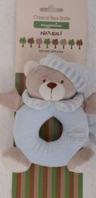 Snuggletime - Classical Plush Bear Rattle - Blue