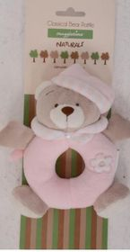 Snuggletime - Classical Plush Bear Rattle - Pink