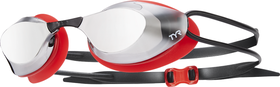 TYR Stealth Metallized Racing Goggles - Red/Silver