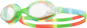 Junior TYR Swimple Tie Dye Goggles - Green/Orange