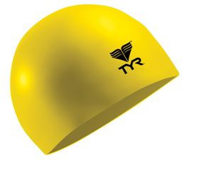 TYR Wrinkle Free Silicone Swimming Cap - Yellow
