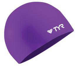 TYR Wrinkle Free Silicone Swimming Cap - Purple