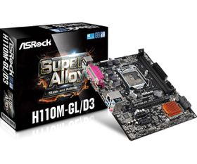 ASRock Intel H110M GL/D3 Motherboard - Socket 1151