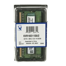 Kingston ValueRAM Memory DDR3-1600MHz SODIMM - 2GB