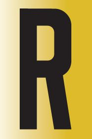 Tower Adhesive Reflective Letter Sign - Medium R