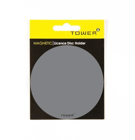 Tower Magnetic Licence Disc Holder - Grey