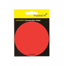 Tower Magnetic Licence Disc Holder - Red