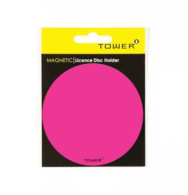 Tower Magnetic Licence Disc Holder - Pink