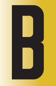 Tower Adhesive Reflective Letter Sign - Large B